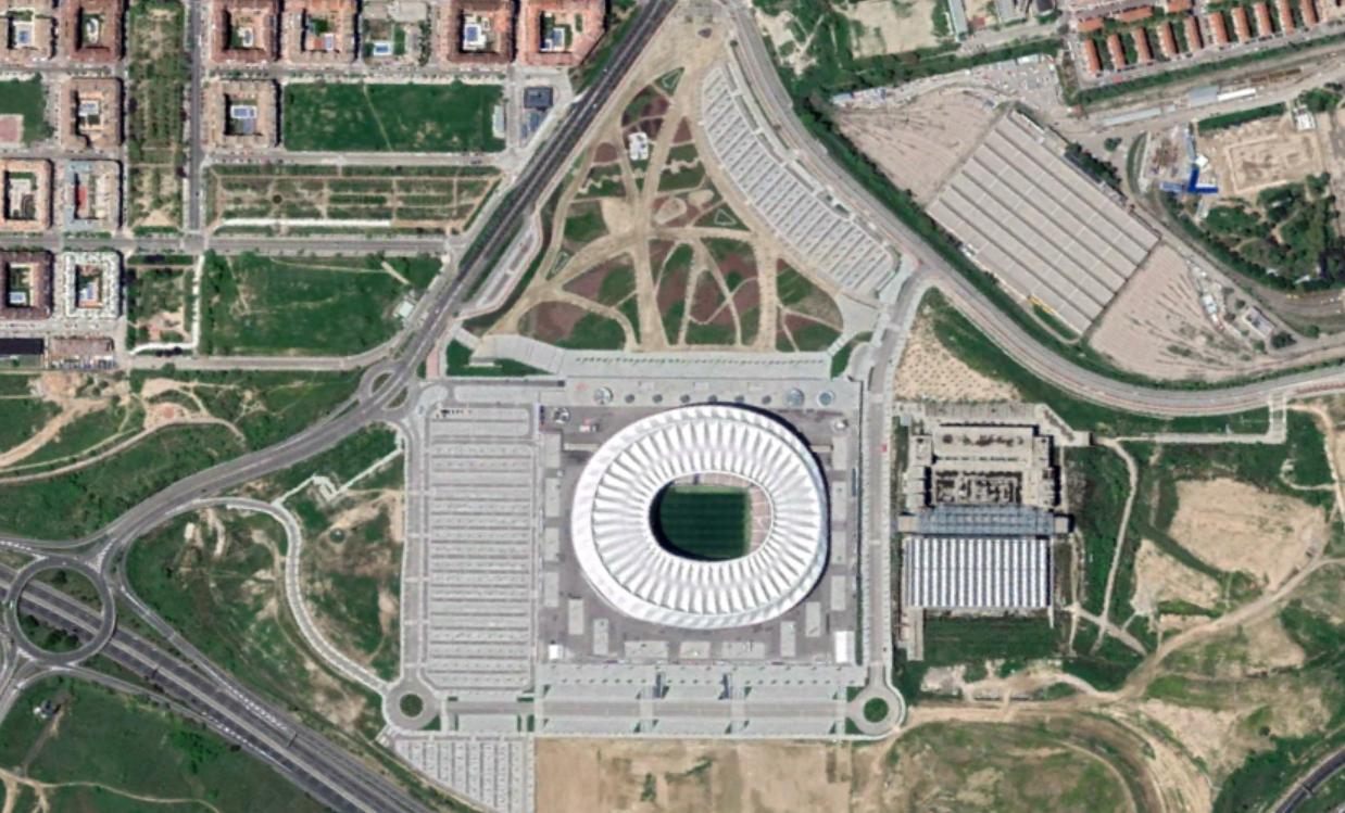 estadio wanda metropolitano, atlético de madrid, madrid, antes esto era una peineta, después, urbanismo, planeamiento, urbano, desastre, urbanístico, construcción, rotondas, carretera