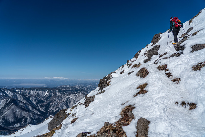 焼岳の山頂直下