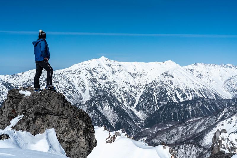 焼岳南峰の山頂