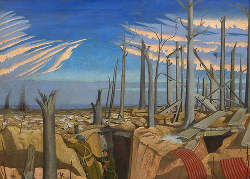 John Nash, Oppy Wood, 1918. Oil on Canvas. © Imperial War Museum