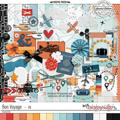 travel digital scrapbooking kit