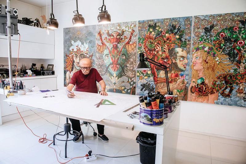 Photo of Ali in his North Tehran studio