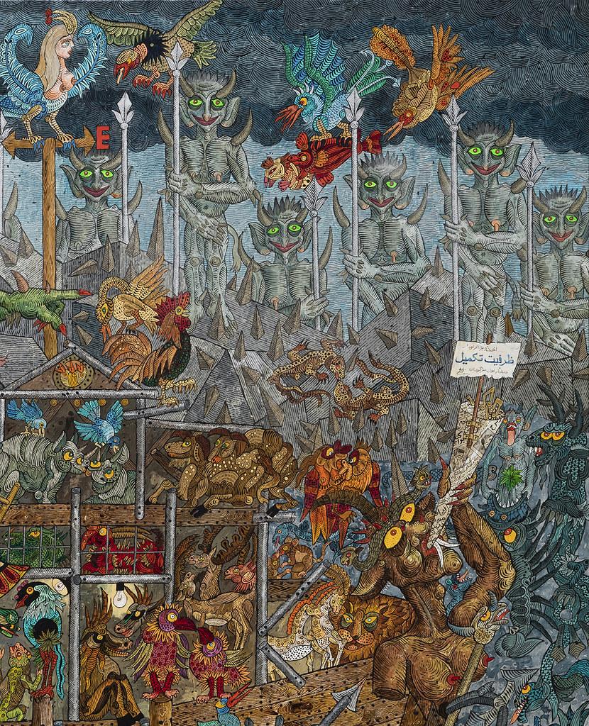 Ali Akbar Sadeghi - As Demon Noah, detail 2