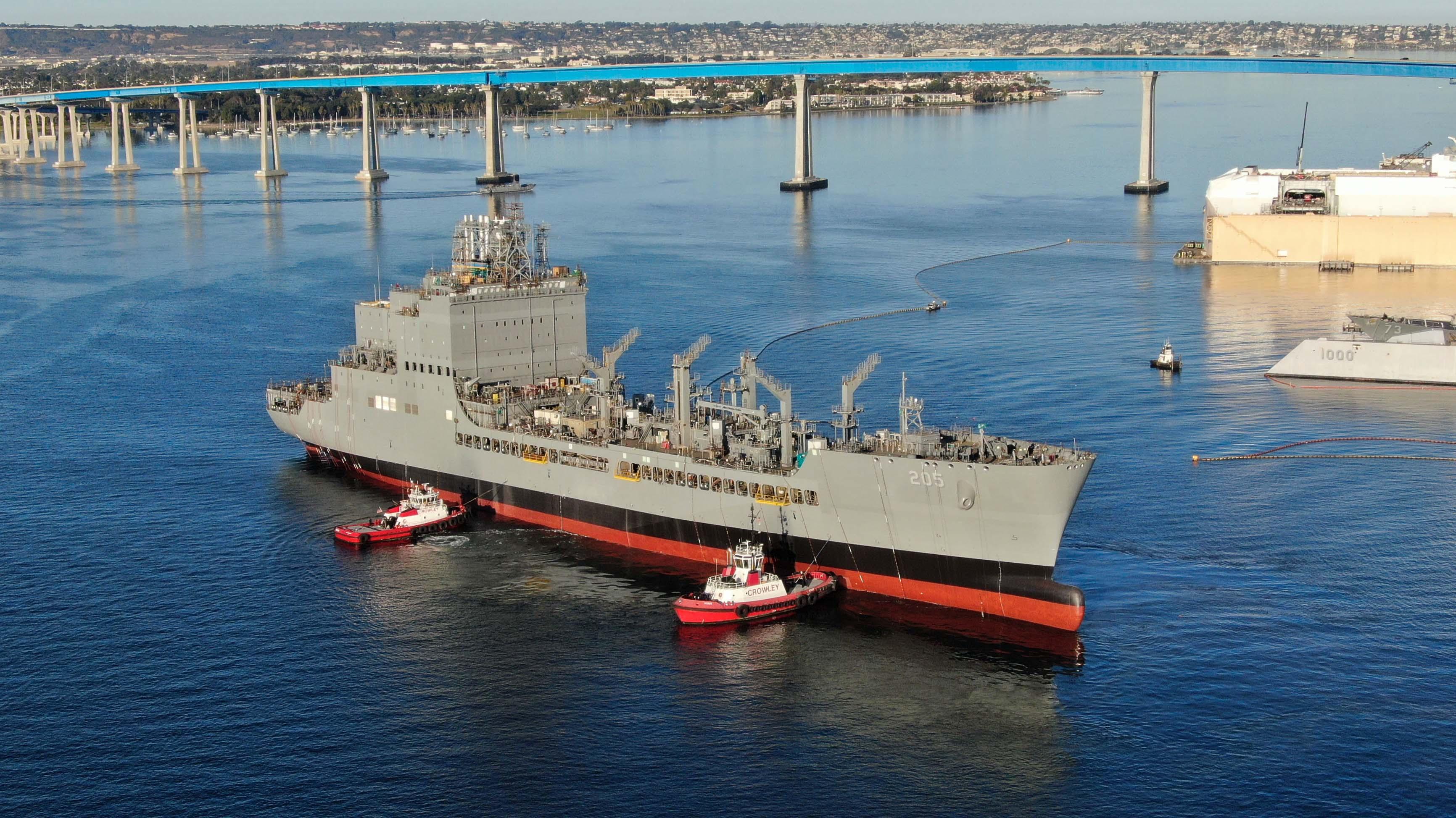 Launch of the future USNS John Lewis (T-AO 205)