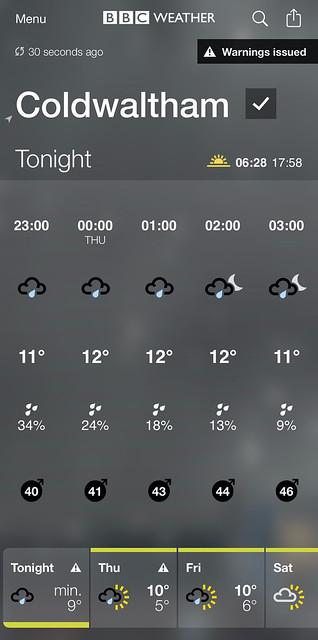 Weather forecast - 10/3/21