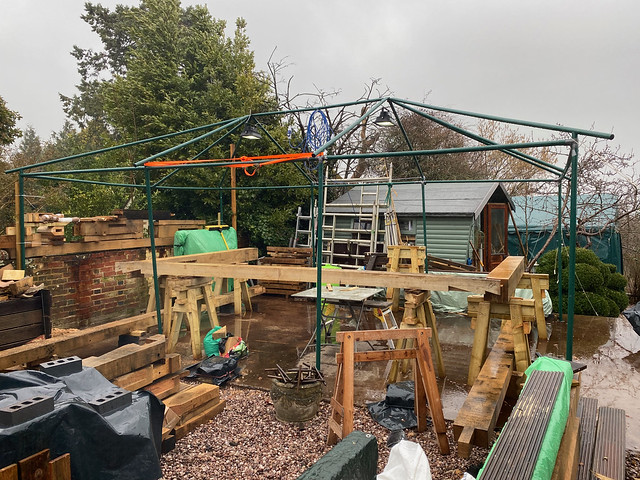 End of day 10/3/21 - tent down
