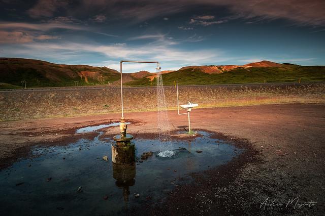 Krafla Geothermal Shower (Iceland)
