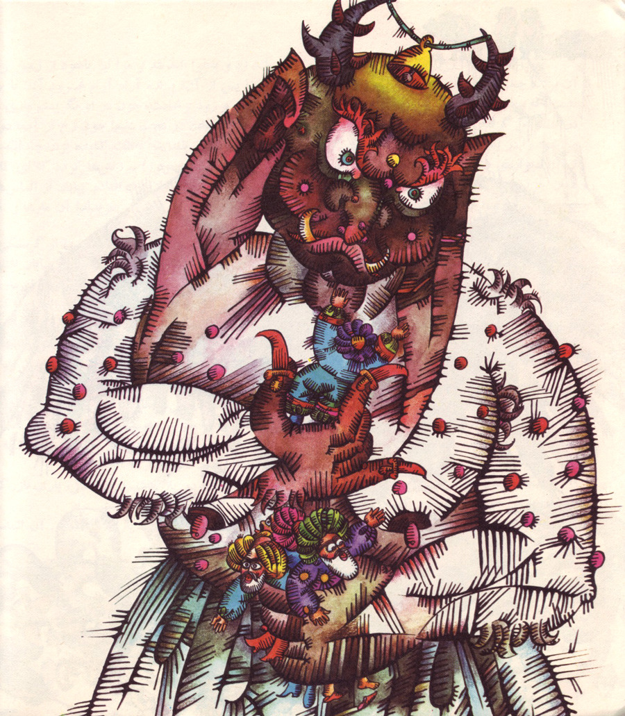"Ali Akbar Sadeghi - 2nd  Illustration from ""Travels of Sandbad"" by Mohammad Ali Sepanloo"