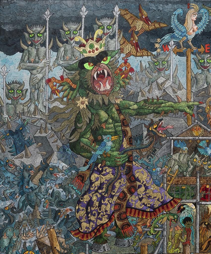 Ali Akbar Sadeghi - As Demon Noah, detail 1