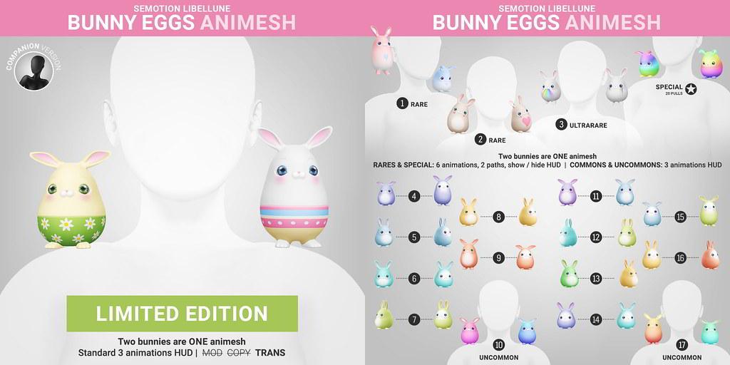 SEmotion Libellune Bunny Eggs Animesh