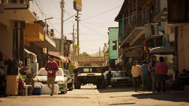 Mayans MC City scene in the market