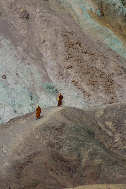 Monks on a rock