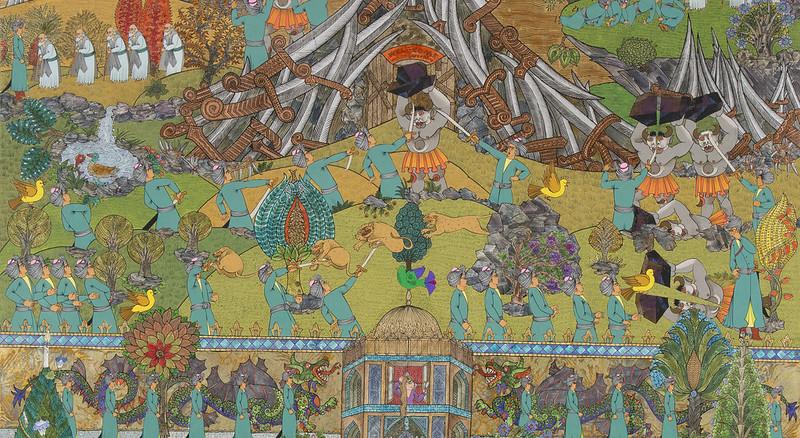 Ali Akbar Sadeghi - Melli Bank Reproduced, Retell Collection, 2015