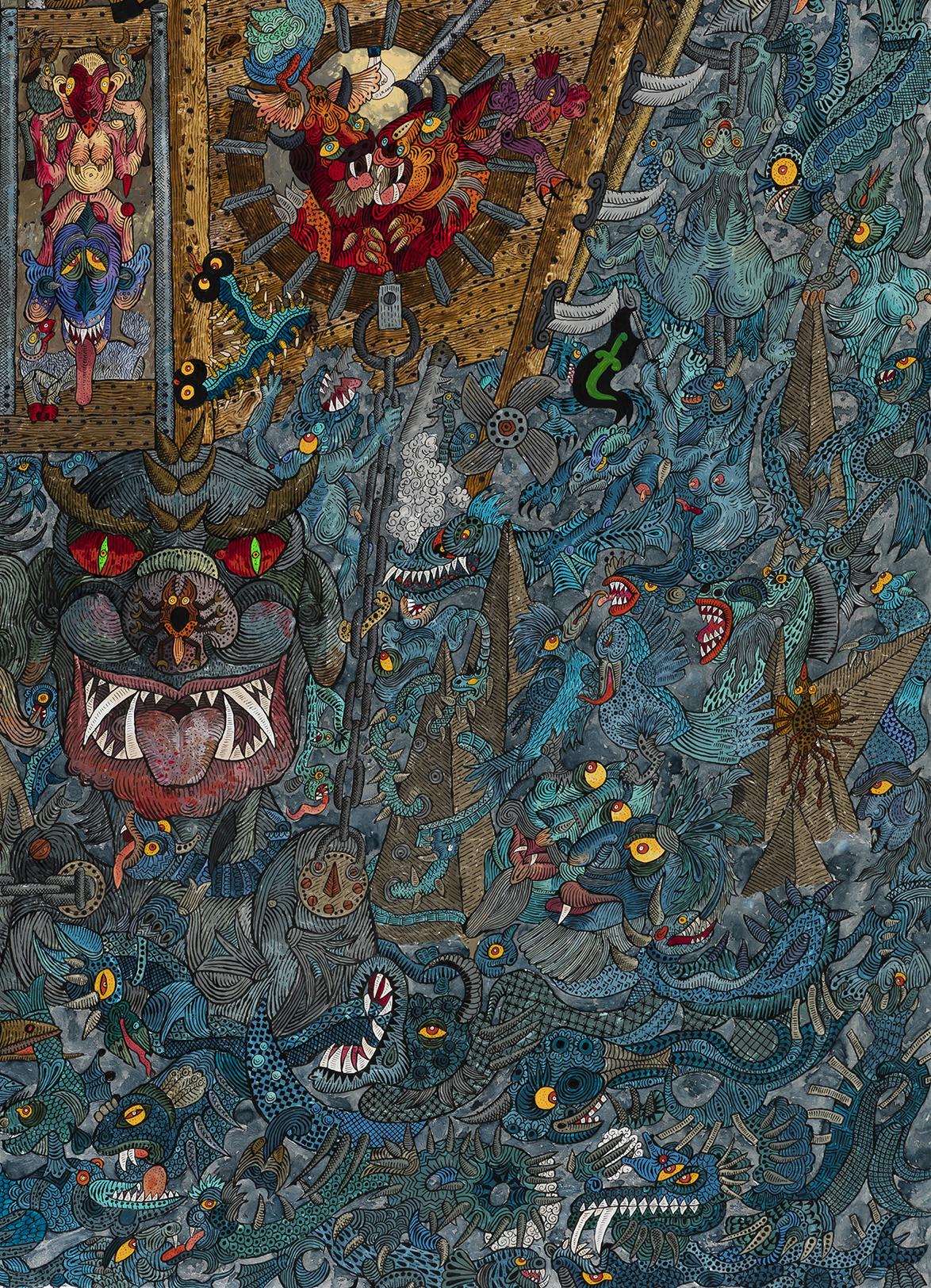 Ali Akbar Sadeghi - As Demon Noah, detail 4