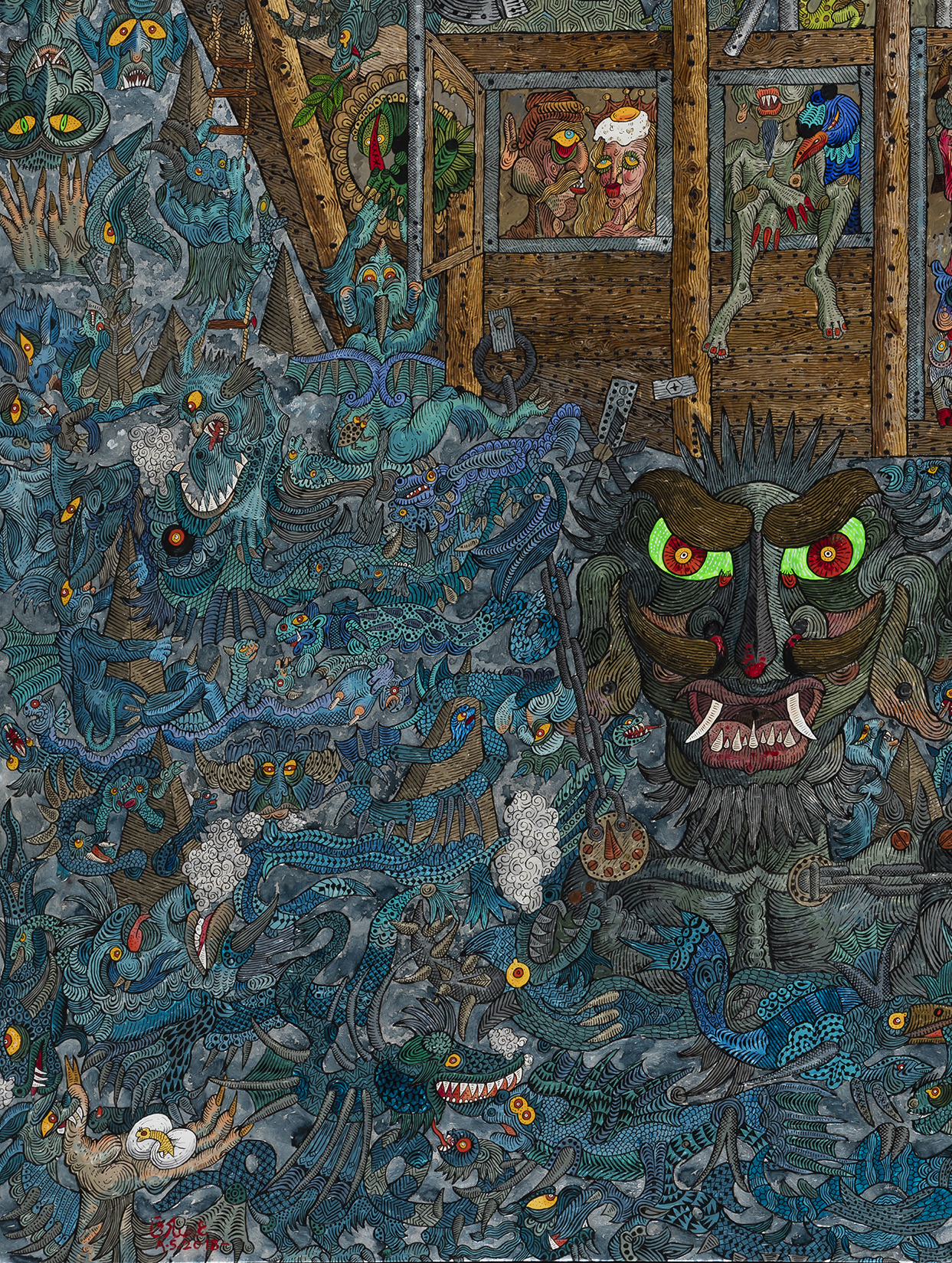 Ali Akbar Sadeghi - As Demon Noah, detail 3
