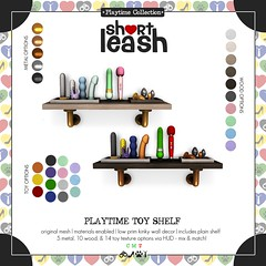 .:Short Leash:. Playtime Toy Shelf