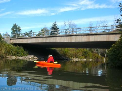 Under the Rt-19 Bridge over Black Creek, Churchville, New York
