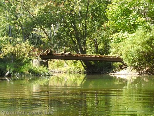 Random make-shift bridge west of Rt-19 over Black Creek, Churchville, New York