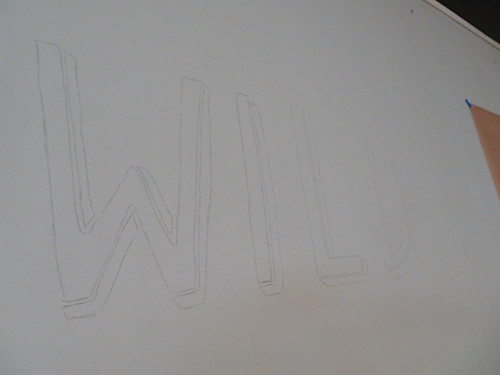 Wild pencilled onto the wall