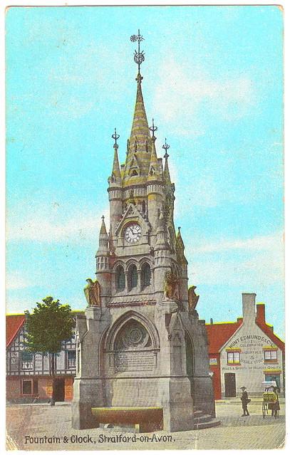 Stratford-on-Avon - Fountain & Clock