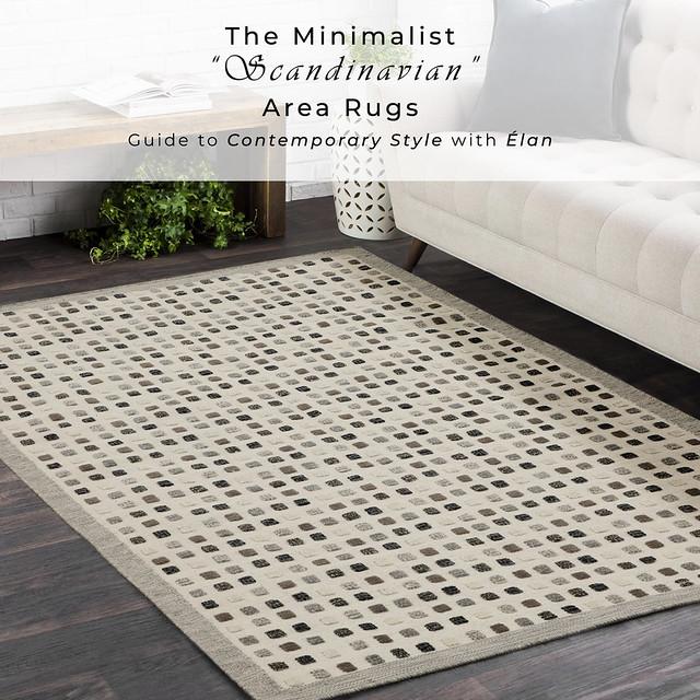 Hand-Woven High Low Geometric Border Khema1 Light Grey Area Rug Carpet