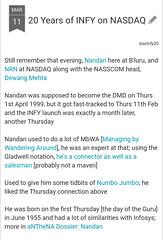 20 Years of Infy on Nasdaq
