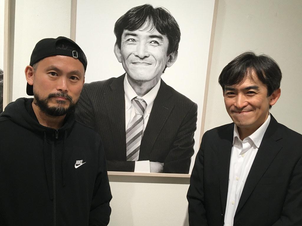 発起人の坂本さんと写真を挟んで記念撮影