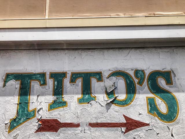 Tito's Cantina sign