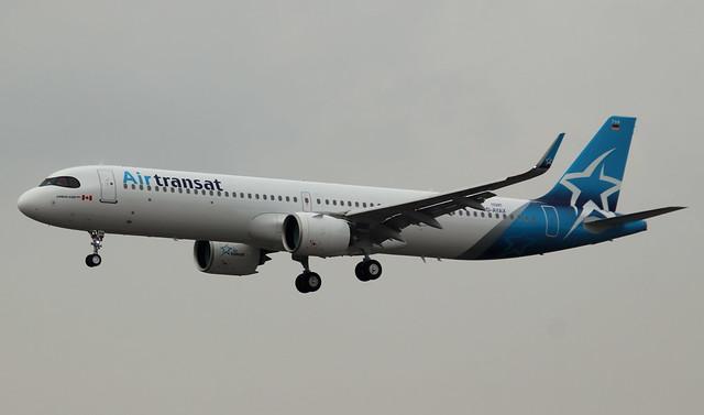 Air Transat, D-AYAX,Reg.C-GOI...,MSN 10287,Airbus A321-271NX/LR, 10.03.2021, HAM-EDDH, Hamburg