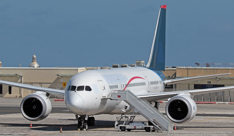 P4-787 LMML 09-03-2021 Private Boeing 787-8 Dreamliner cn 35306
