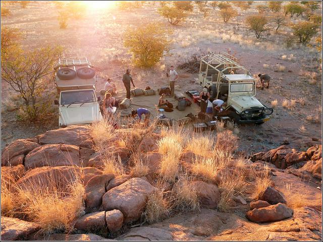 Camping in Damaraland, Namibia
