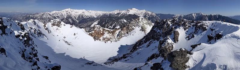 焼岳の南峰からの大パノラマ