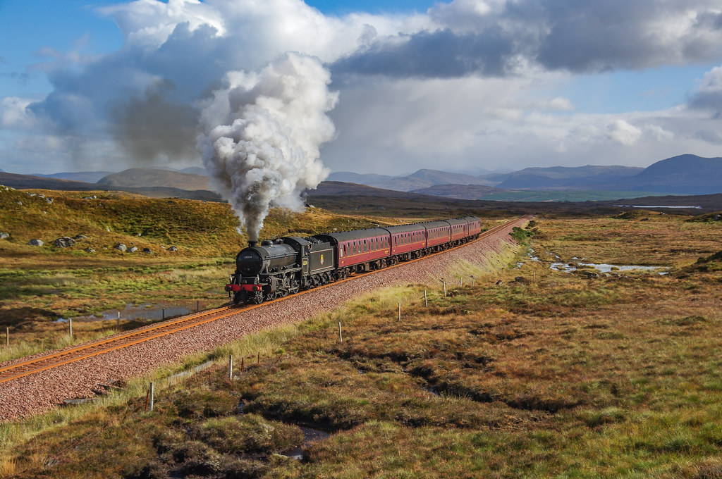 62034 On Rannoch Moor. 04/10/2009.