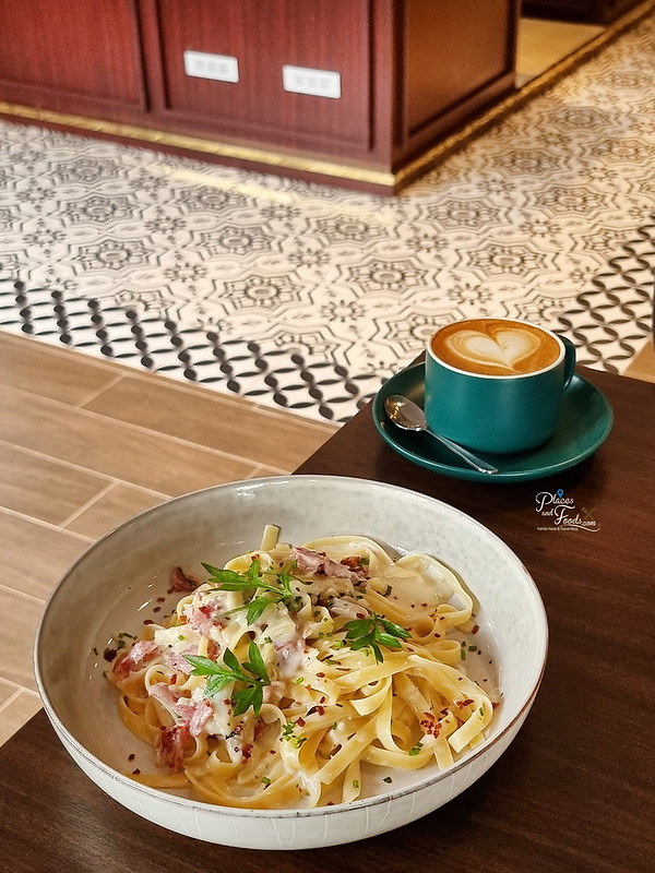 delicieux cafe jade hills cabonara pasta
