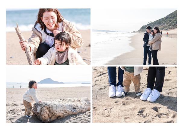 海で家族写真! 愛知県田原市 渥美半島