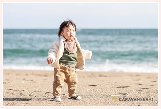 冬の海 1歳の男の子