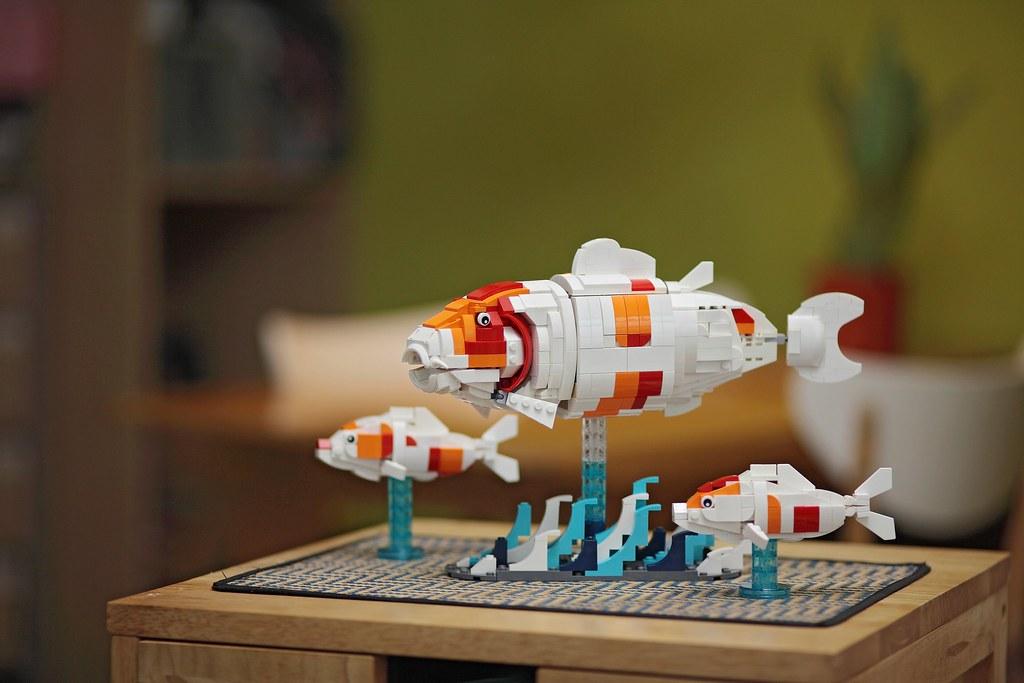 Graceful Koi on Lego ideas
