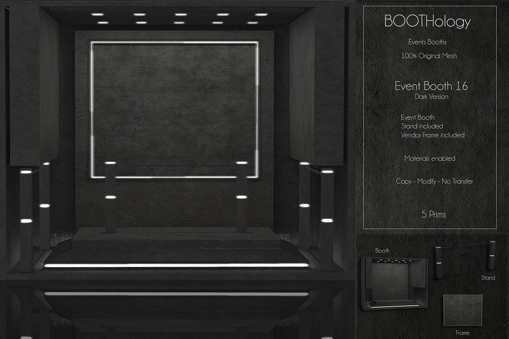 Bothology – Event Booth 16  dark version AD