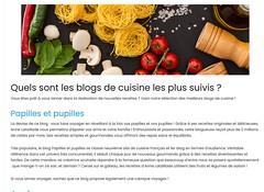 Quels sont les meilleurs blogs de cuisine