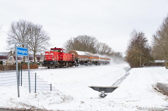DB Cargo 6454+Afvoer KLK Kolb, Hengelo, 10-2-2021