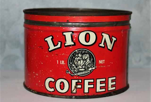 Lion Coffee Tin