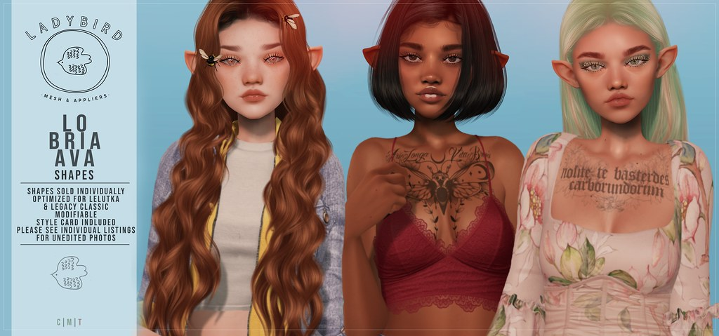 Ladybird. // Lo, Bri, & Ava Shapes for Lelutka EvolutionX!