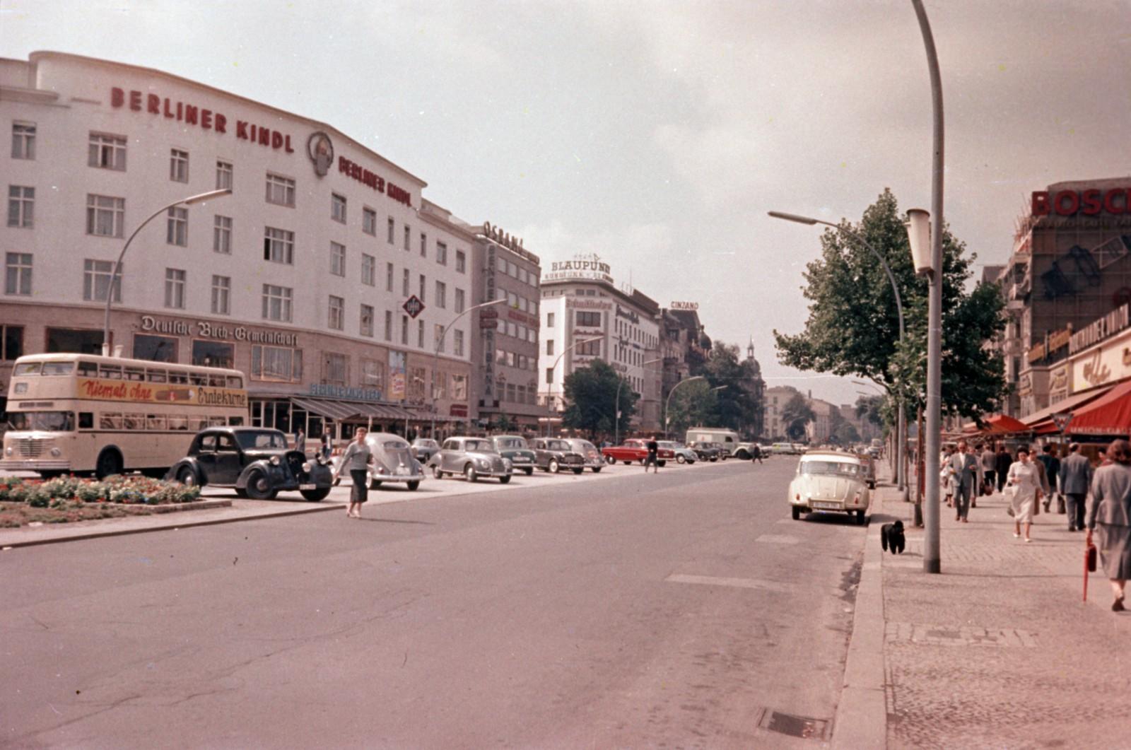 07. Западный Берлин. Курфюрстендамм со стороны Иоахимсталер штрассе