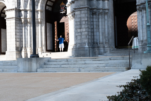 entering the house of worship