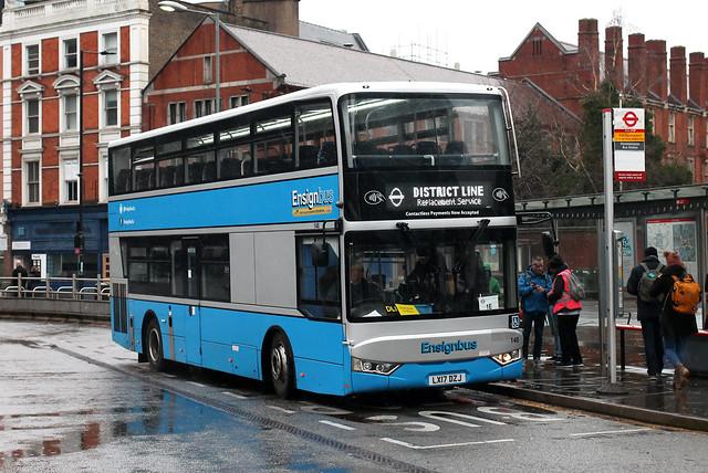 District Line Replacement, Ensignbus, 148, LX17DZJ