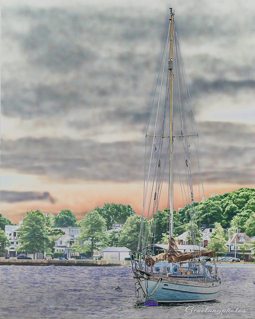 Sail Boat-Newport, R.I.