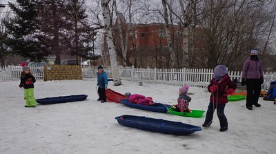 collecting sleds