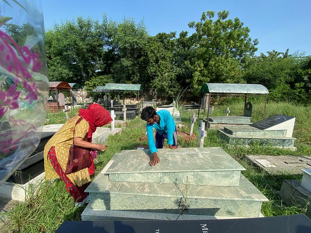 City Moment - Writer Arundhati Roy Visits Her Father, Indian Christian Cemetery, Burari