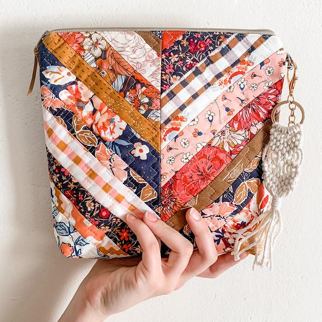 Herringbone Patchwork Bag