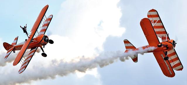 The Flying Circus Aerobatic Team AeroSuperBatics Wingwalkers